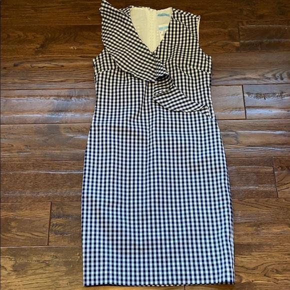J. McLaughlin Gingham KATHRYN Sheath Dress 2 NWT